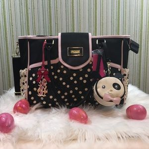 Betsy Johnson diaper bag!